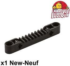 Lego technic - 1x engrenage pignon gear rack direction 1x7 noir/black 87761 NEUF
