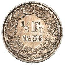 SVIZZERA 1/2 Franc 1953