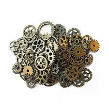 Aoyoho 100 Gram Assorted Antique Steampunk Gears Charms Pendant Clock Watch