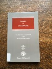 Chitty on Contracts 1st Cumulative Supplement to 27th Edition 1996