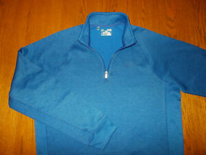 NEW UNDER ARMOUR STORM 1 COLD GEAR 1/4 ZIP LONG SLEEVE BLUE PULLOVER MENS XL