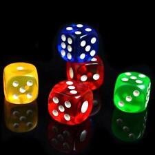2xTransparente Spielw?rfel Sechsseitige W?rfel D6 Punkt-W?rfe Brettspiel zuf?lli
