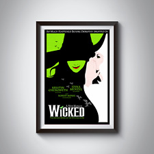 WICKED MUSICAL POSTERS | Home Wall Art Decor | A4 or A3 option | 200gsm Gloss