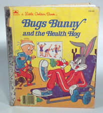 Vintage Bugs Bunny and the Health Hog Little Golden Book 1986