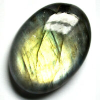 Cts. 35.90 Natural Slver Green Fire Labradorite Cabochon Oval Cab Loose Gemstone