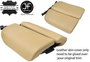 BEIGE TOP GRAIN REAL LEATHER ARMREST LID COVER FITS LINCOLN MKS 2009-2015