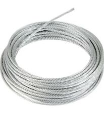 1.2M Stainless Steel Wire Rope Cable 2mm Diameter With Nipple On End.