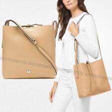 NWT 🌼 Michael Kors Junie Large Messenger Crossbody Bag Butternut Beige Gold