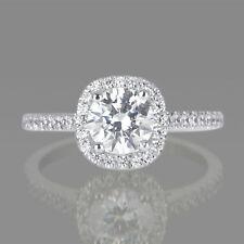 Earth-Mined 2 CT ENHANCED DIAMOND ENGAGEMENT RING ROUND F/I3 14K WHITE GOLD