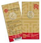 2018 Australia Lunar Year of the Dog - $1 Carded Unc Coin RAM
