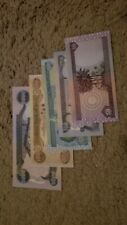 Excellent Set: 5,000-1,000 - 500 - 250 - 50  Iraqi Dinar, UNC, Perfect Condition