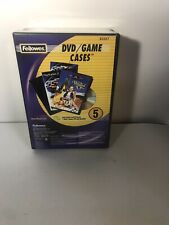 Fellowes DVD/Game Cases #83357 5 Pack. Holds 1 DVD/Game Cd + Booklet. Discont'd
