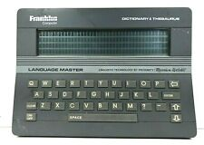 Franklin Computer Language Master Dictionary Thesaurus - Lm-2000