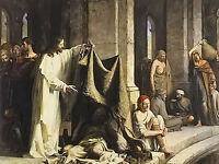 Oil painting carl heinrich bloch - christ healing by the well of bethesda canvas