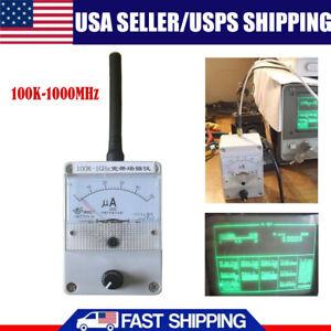 USA 100K-1000MHz Field Strength Indicator Meter RF Signal Level Meter & Antenna