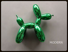 POP ART BALLOON DOG FIGURE | METALLIC FINISH | GREEN + JEFF KOONS POSTER