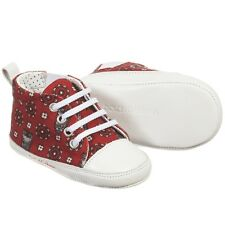 DOLCE AND GABBANA Baby Red Owl Stampa Scarpe EU 19 UK 3