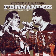 Vicente Fernandez y Alejandro Fernandez En Vivo Juntos Por ultima Vez 2CD New