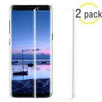 2 pack Full Curved Tempered Glass Screen Protector Samsung Galaxy S8 Plus