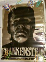 FRANKENSTEIN 1975 75 AMERICANA TV MOVIE VINTAGE MYLAR FOIL NOS POSTER -NICE!