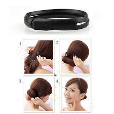 2x Consideration design Black Magic Hair Styler Bun Ponytail Twist Ring Maker DS