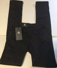 ROCK & REPUBLIC Skinny Jeans Size 0 Black Gray Low Rise