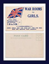 """UK WAR ROOMS FOR GIRLS """"DO YOUR BIT"""" FOR THE MEN WHO ARE SERVING CIRCA 1915"""