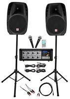 "Rockville Dual 15"" Android/iphone/ipad/Laptop/TV Youtube Karaoke Machine/System"