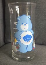 Grumpy bear Care Bear Glass, Vintage 1983, Pizza Hut Collectors Series