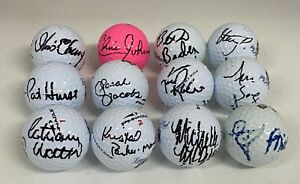Group Lot of 12 LPGA PGA Signed Autograph Auto Golf Ball JSA COA