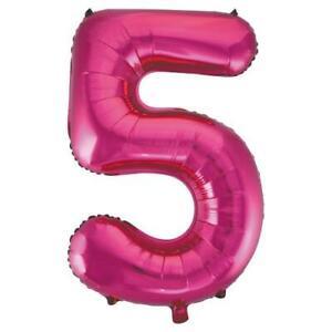 Jumbo 5 Foil Balloon Helium 34'' Pink