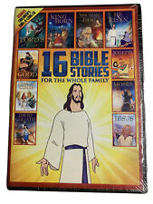 16 Bible Stories for the Whole Family (2 DVDs+Children's Sing-A-Long CD) NEW