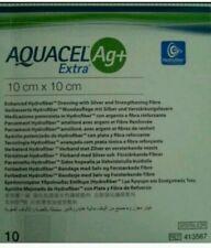 Aquacel AG+ Extra Silver Hydrofiber Wound Dressing 10cm x 10cm  x (10)