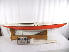 Vintage Dumas EC-12M Heritage RC Remote Control Sailboat Racing Pond Yacht 58""