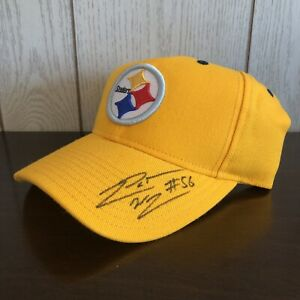 Reebok NFL Pittsburgh Steelers On Field Apparel LaMarr Woodley Autographed Hat!!