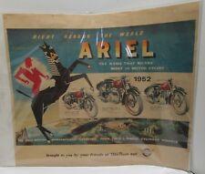 RARE 1952 ARIEL BRITISH MOTORCYCLE ADVERTISEMENT POSTER