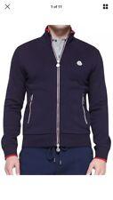 Moncler Men's Blue Maglia Webdetail Track Jacket Navy Size 2XL