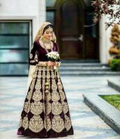 Pakistani New Wedding Lehenga Sari Bridal Indian Designer Bollywood Lengha Choli