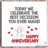 Funny Anniversary Card Humour Cheeky Husband Wife Wedding Anniversary