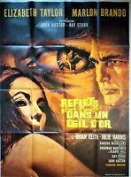 Plakat Kino Reflets Dans Un Auge D'Or - Taylor Brando - 120 X 160 CM