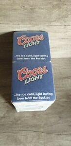 New ; 200 x Coors Light Beer Mat Coasters