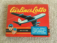 Vintage Airline Lotto game from 1958, Cadaco-Ellis, Inc