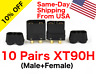 10 Pairs Black Amass XT90H Connector Male Female w/ Protective Cover RC Battery