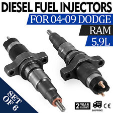 For Dodge Ram 5.9L Cummins 5.9L 04-09 6pcs Diesel Fuel Injectors PERFECT