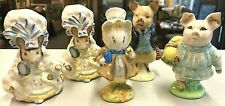 Vintage Beswick Beatrix Potter Figurine LOT 5 Pcs Amiabe Guinea Pig Robinson ++