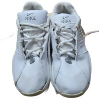 Nike Womens Tennis Shoes Size 6 White Leather Laced Up Marque Pas Athletic