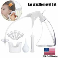 US Ear Wax Cleaner Earwax Removal Kit Earwax Cleaning Tool with Basin 5 Tips set