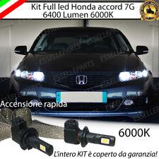 KIT FULL LED H1 HONDA ACCORD 7G 6000K BIANCO NO ERROR 6400 LUMEN ABBAGLIANTI