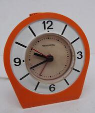 pop art 70s alarm clock - Oranger elektromechanischer Remington Wecker Uhr 70er