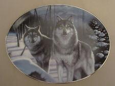 WOLF collector plate MYSTIC GUARDIANS Daniel Renn Pierce OVAL